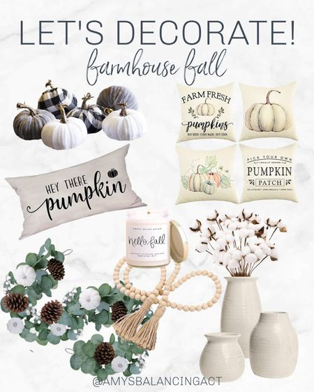 The most affordable fall farmhouse decor you can find! Linking my favorites all under $30. Farmhouse decor | Fall decor   #LTKSeasonal #LTKunder50 #LTKhome
