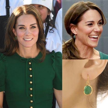 Kate wearing Monica Vinader earrings #jewelry #gold #mom #gift #bridesmaid