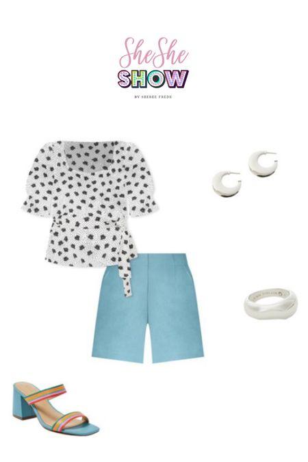 @anntaylor #anntaylor #shorts #summertops #slides #slidesandals #silverjewelry #silverearrimgs #summerlook #resortwear  #LTKunder50 #LTKunder100 #LTKtravel
