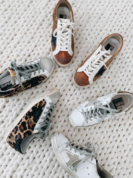 Golden Goose Superstar sneakers. They run TTS for me. Fall sneakers.     #LTKshoecrush