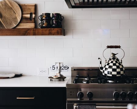 Painting our kitchen cabinets Black was probably the biggest risk we took when building our house. But it totally paid off. // Finally sharing photos of our finished kitchen #todayonTKC. // http://liketk.it/2t2mE #liketkit @liketoknow.it @liketoknow.it.home #LTKhome