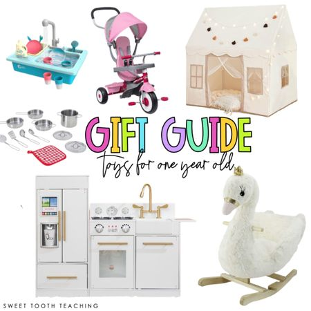 Toys for baby Baby girl gift idea Gift ideas for baby Play kitchen Nursery Play room Gift guide for kids Girl mom  #LTKkids #LTKHoliday #LTKGiftGuide