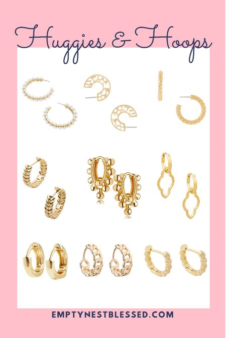 Huggies, huggie earrings, gold hoops, small hoops, trendy earrings, dangles, jewelry, pearl earrings  💎Have you hopped on the huggie hoop train? These styles are so darling, I love them all! They compliment any fall outfit and are great for fall date night!  #LTKworkwear #LTKunder50 #LTKGiftGuide