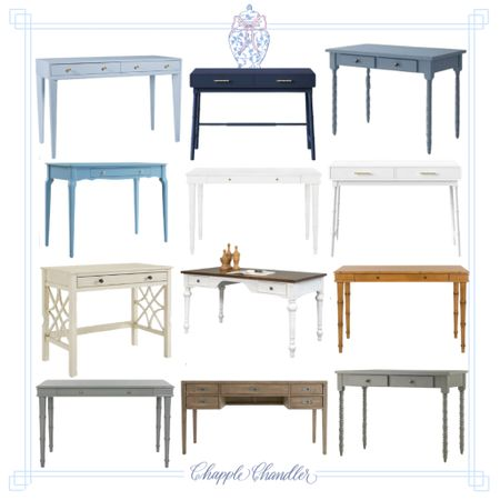 Colorful desks home decor office furniture dusty light blue navy blue white bamboo turned legs creamy white off white wood ashy wood gray wash wood light blue baby pink white campaign desk with drawers storage Green light green turquoise naval blue navy blue dusty blue gray light gray purple lavender wood chestnut solid wood dark wooden desk pink blush white office decor accents home decor home office grandmillennial preppy modern feminine coastal color bright colors  #LTKfamily #LTKkids #LTKhome