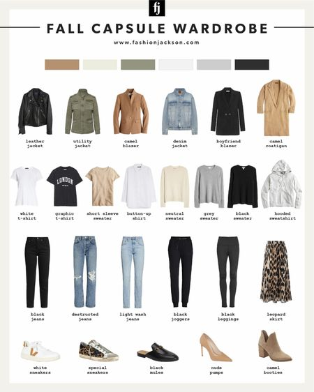 Fall capsule wardrobe! Use these 25 pieces for the most versatile closet. I can only link 16, but the rest of the items can be found on fashionjackson.com   #LTKstyletip #LTKunder50 #LTKunder100
