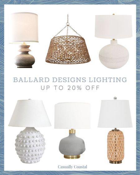 Ballard Designs is offering up to 20% off rugs, lighting and home office furniture so I rounded up my favorite lamps and chandeliers here!  summer decor, summer decorations, summer home decorations, coastal decor, beach house decor, beach decor, beachy decor, beach style, coastal home, coastal home decor, coastal interiors, coastal family room, living room decor, coastal decorating, coastal house decor, home accessories decor, coastal accessories, neutral decor, neutral home, ballard designs lighting, ballard lighting, lamps for living room, lamps for bedroom, lamps for entryway, lamps for dining room, lamps for sunroom, chandeliers for entryway, chandeliers for bedroom, chandeliers for living room, chandeliers for dining room, ballard designs lamps, ballard designs chandeliers, lighting sale, lamps on sale, chandeliers on sale, textured lamps, white lamps, woven lamps, wood lamps, ceramic lamps, white ceramic lamps, neutral lamps  #LTKsalealert #LTKhome