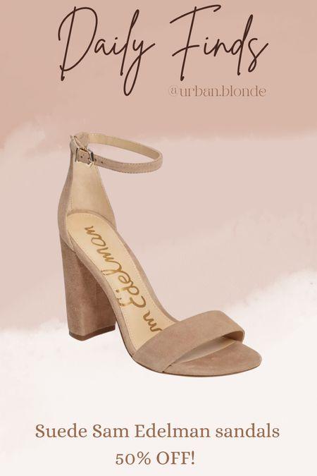 Suede Sam Edelman heels on sale!    #LTKsalealert #LTKshoecrush #LTKunder100