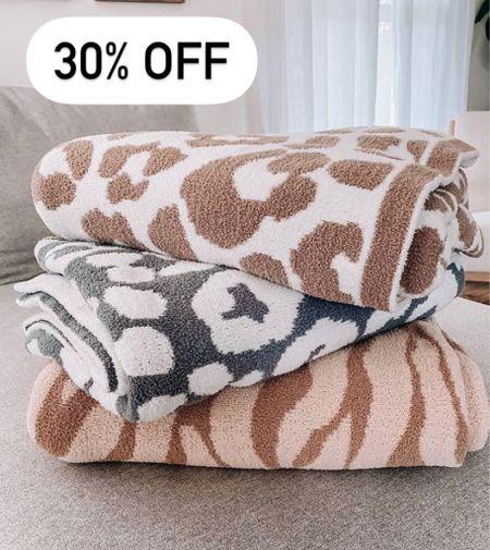 Barefoot dreams dupe  Leopard blanket  Styled collection  Gift ideas for her   #throwblanket #barefootdreamsdupe #barefootdreams #leopardblanket #giftsforher #giftideasforher #cozygifts  #LTKhome #LTKSale #LTKunder100