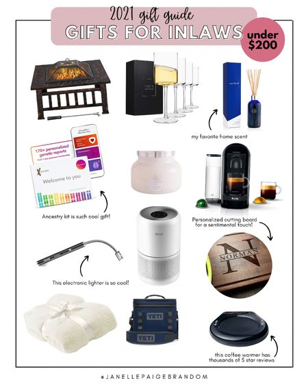 Great gifts for the in-laws that won't break the bank. $200 and less for some of the best holiday gifts. Also great for parents    #LTKHoliday #LTKSeasonal #LTKGiftGuide