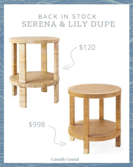 This rattan side table just came back in stock at Target, but I'm guessing it will sell out quickly again! It's a great dupe for Serena & Lily's Balboa Side Table (which I also linked and is $998). I have it in my living room and love it and you can't beat the price at $120!  summer decor, summer home decor, summer home decoration living room, summer home, coastal decor, beach house decor, beach decor, beach style, coastal home, coastal home decor, coastal modern, coastal interiors, coastal decorating, coastal house decor, coastal farmhouse decor, neutral home decor, cane, seagrass, rattan, bedroom inspiration, coastal bedroom, coastal living room, neutral living room, living room decor, side tables, wicker tables, living room side tables, bedroom tables side, bedroom side tables, hallway table, serena & lily dupe, serena and lily dupe  #LTKfamily #LTKhome #LTKstyletip
