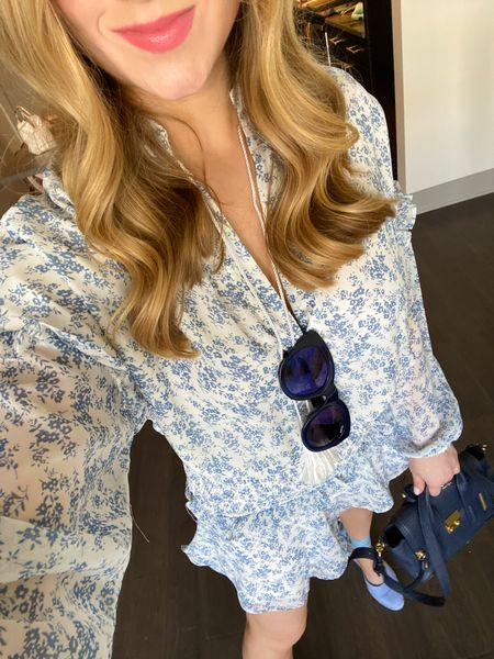 A case of the blues, but in the best way! A breezy smocked dress, oversized shades, and espadrilles…Need I say more? 🤩 #sandals #sunglasses #bloomingdales   #LTKfit #LTKshoecrush #LTKitbag