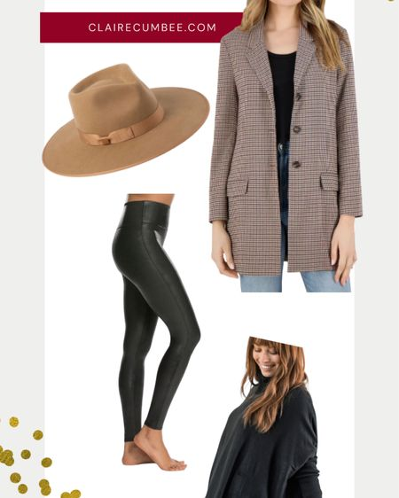 http://liketk.it/31mNp My Fall Horse Trial Jog Outfit this year I wore the Spanx Faux Leather Leggings, MerSea Co Black Sweater , BB Dakota Boyfriend Blazer in Plaid (I love wearing this to work), and my rancher cowboy hat by lack of color http://liketk.it/31mMS #liketkit @liketoknow.it #LTKgiftspo #LTKFall #LTKunder100 equestrian style , preppy, British , Bloomingdales, thanksgiving