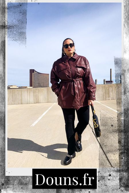 Leather jacket and Slit pant  #leatherjacket #slitpant #musthave2021 #  #LTKsalealert #LTKunder50 #LTKSeasonal