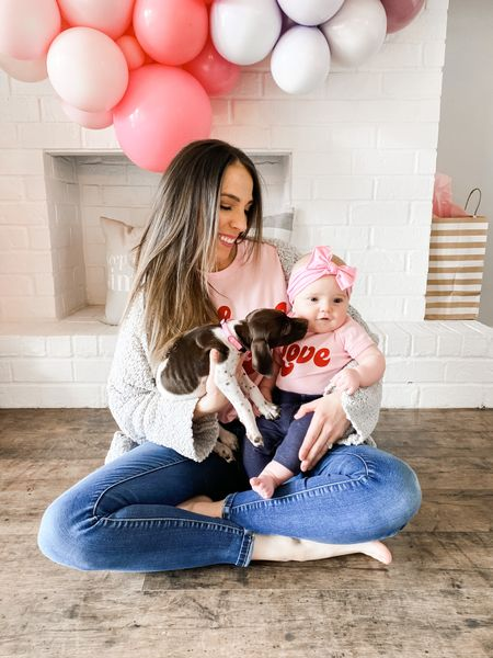 http://liketk.it/38aM9 #liketkit @liketoknow.it #LTKstyletip #LTKVDay @liketoknow.it.family Shop my daily looks by following me on the LIKEtoKNOW.it shopping app   Nothing like a mama and baby matchy matchy set! This Etsy seller is amazing and does alllllll the cutoms!! Click below to shop!