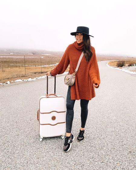travel outfit: oversized sweater + moto leggings + comfy leopard sneakers on sale! I can't recommend this luggage enough. @liketoknow.it http://liketk.it/2ziLF #liketkit #LTKsalealert #LTKshoecrush #LTKstyletip