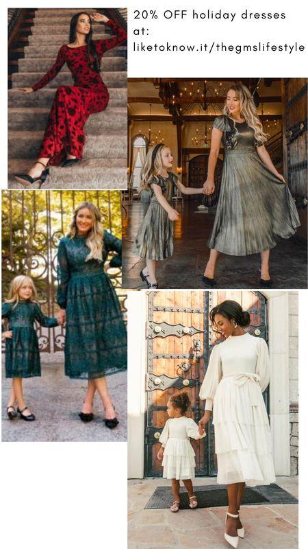 Holiday dresses by Ivy City Co.  20% off all weekend! (Including Mommy & Me styles for the minnie's).  http://liketk.it/32xBt   @liketoknow.it #liketkit   #LTKgiftspo #LTKsalealert #LTKstyletip #LTKunder50 #LTKunder100 #LTKfit #LTKbaby #LTKkids #mommyandme #holidaydresses #giftideas