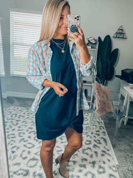 The comfiest t-shirt dress I've ever put on!!!! DONT size up, already fits oversized!   #LTKunder50 #LTKSeasonal #LTKstyletip