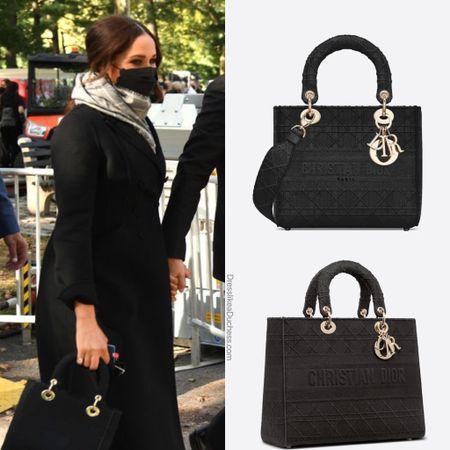 Meghan carrying Dior Medium D-lite bag #crossbody #purse #style #bag     #LTKitbag