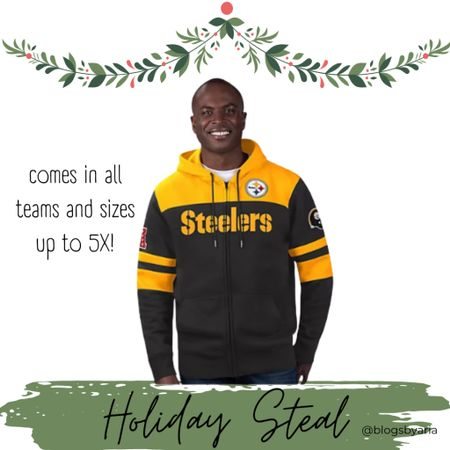 Great gift idea for the football fan!! This is unisex so it really is a great find!! Football team hoodie gift guide guys gift guide gifts for men sports gift ideas   #LTKGiftGuide #LTKmens