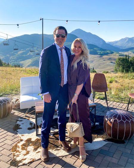 Wedding look. Wedding guest dress. Wedding guest shoes. Wedding dress. Revolve. Colorado wedding. Brown wedding guest dress. Fall dresses. Wearing size XS  #LTKtravel #LTKwedding #LTKfamily