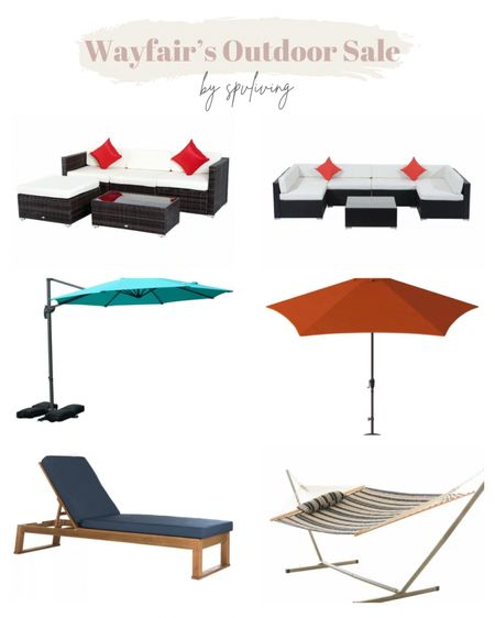 Wayfair's WayDay sale is here! I'm sharing our favourite affordable outdoor furniture! Some of the following are up to 60% off! Check out the patio sets, umbrellas and other summer deals!  #LTKsalealert #LTKhome #LTKSeasonal