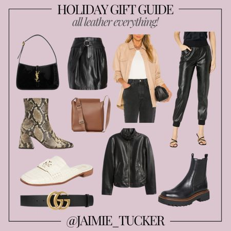 """An """"all leather everything"""" gift guide. Check out these 10 items I picked! 