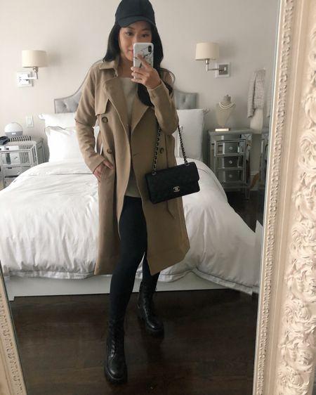 Zella leggings 7/8 length on sale (perfect for petites), uniqlo waffle tee xs (super affordable), lululemon stretch cap, Sam Edelman boots size 5 (I'm between half sizes and sized down), trying on abercrombie drape trench size xxs http://liketk.it/32oLq #liketkit @liketoknow.it #petite #LTKgiftspo #LTKstyletip #LTKsalealert