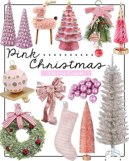 Pink Christmas decor  Walmart home    #LTKHoliday #LTKhome #LTKGiftGuide
