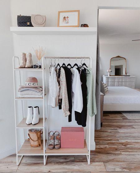 Clothing rack   bedroom decor  Closet organization   amazon finds   #LTKSeasonal #LTKunder100 #LTKhome