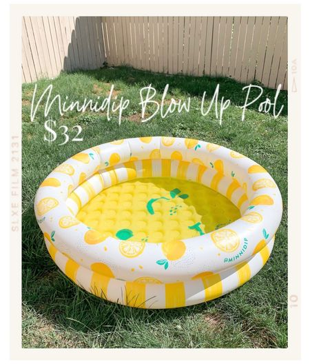 Minnidip blow up pool Backyard entertaining   #targetstyle #targetfinds #outdoorliving #outdoordecor #minnidipblowuppool #blowuppool #minnidip  #LTKSeasonal #LTKhome #LTKunder50