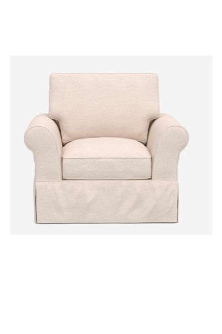 Slip covered arm chair from Pottery Barn!  #LTKhome