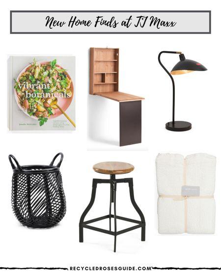 ✨🚨New Home Arrivals at TJ Maxx🚨✨ | Home Decor | Living Room Decor | Desk | Cookbook | Desk Lamp | Wicker Basket | Coverlet | Stool | Desk Decor | Office Decor | Bedroom Decor | Under $100 | Under $50 |   #LTKunder100 #LTKsalealert #LTKhome