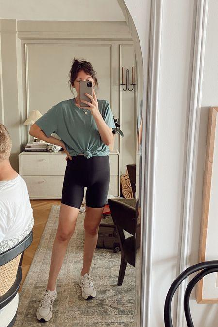 Lululemon Align Shorts 8 inch, tee, sneakers   #LTKunder100 #LTKbump #LTKfit