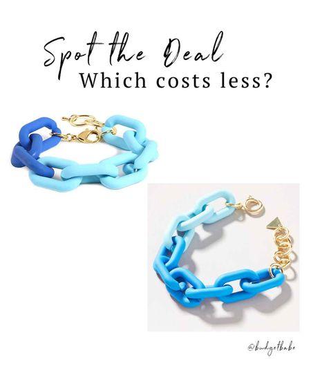 Resin chain link bracelets from $10.99 to $18 http://liketk.it/3h9xZ #liketkit @liketoknow.it #LTKunder50 #LTKstyletip