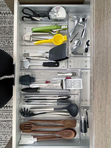 Organized kitchen utensils || #drawerorganization #drawer #kitchenorganization #simplyorganized  #LTKfamily #LTKbacktoschool #LTKhome