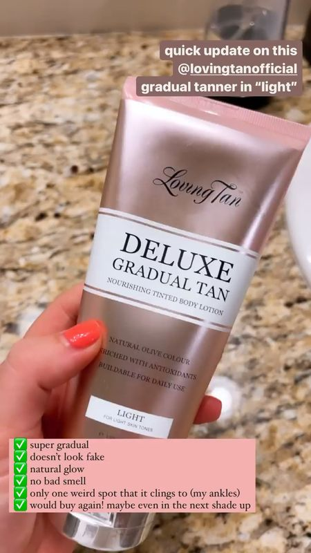loving this gradual self tanner ✨ makes my very fair skin glow 🥰  #LTKunder50 #LTKSeasonal #LTKbeauty