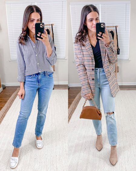 FALL ESSENTIALS: LIGHT WASH JEANS — high rise boyfriend jeans (tts), distressed Mom jeans (tts)   #denimlover #fashionguide #outfitstyling #denimlove #casualfashion #skinnyjeans #momjeans #comfystyle #boyfriendjeans #wearingtoday #straightjeans #outfitideasforyou   #LTKunder50 #LTKunder100