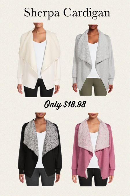 Walmart sherpa cardigan only $18.99  #LTKsalealert #LTKSeasonal