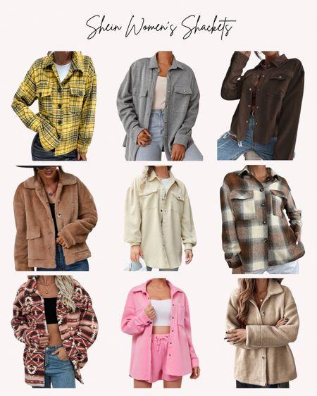 Women's, shacket, jacket, coat, fall, autumn, plaid, cozy, button up, corduroy, sherpa, sweatshirt  #LTKSeasonal #LTKunder50 #LTKstyletip