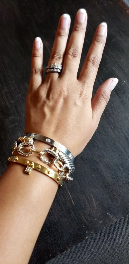 My Fave Look for Less Bracelet Stack is Now on Sale through the 11th for up to 45% off!  brackets bangles dupe jewelry