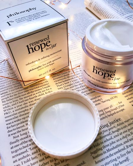 From now until February 20th, you can earn 5x points on select skincare from Ulta. One of my holy grail products is Philosophy's Renewed Hope in a Jar. It is a refreshing and refining moisturizer. This product is perfect for anyone who wants hydrated, glowing skin. I love this moisturizer because it reduces my pores and wrinkles. A 2.0 oz jar costs $39 at Ulta. Grab yours now!  #StayHomeWithLTK #LTKunder50 #LTKbeauty