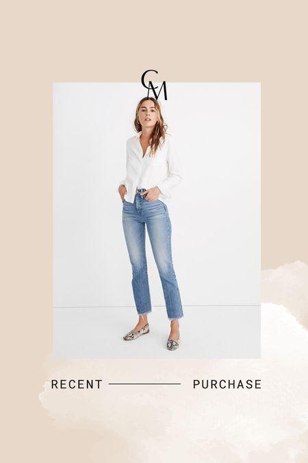 N my favorite affordable straight leg jeans. Size down.   #LTKsalealert