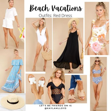 Beach vacation outfits // travel // summer style // http://liketk.it/3fjxG @liketoknow.it #liketkit #LTKunder100 #LTKtravel #LTKstyletip