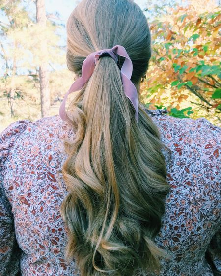 velvet hair ribbons and the perfect fall dress! http://liketk.it/31Huv #liketkit @liketoknow.it #LTKcurves #LTKunder50