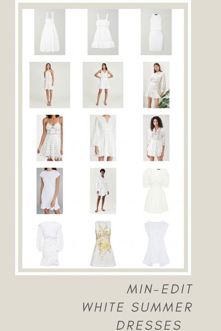 It's HOT in London this week.  So I have turned my attention to summer wear and specially LWD - little white dresses.  It's a timeless item we will come back to every summer (and every warm holiday).    #LTKDay #LTKstyletip #LTKSeasonal