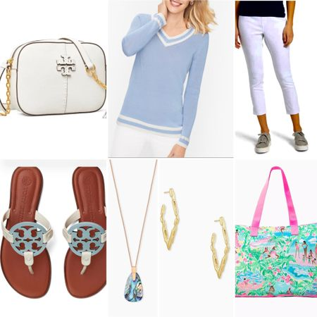 This a perfect travel outfit for a tropical getaway. The Lilly tote bag can be used as a beach bag or carryon bag. It folds up into a small pouch. The sweater is on sale! I will be wearing these sandals all summer!   #LTKtravel #LTKSeasonal #LTKshoecrush
