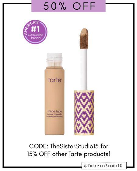 Shape Tape:Shade Light Neutral  Glow wand: Sunbeam Tinted Hydrator: Light Medium Beige  Juicy Lip: Clear or Rose    #tartepartner @tartecosmetics  #LTKsalealert #LTKbeauty #LTKstyletip