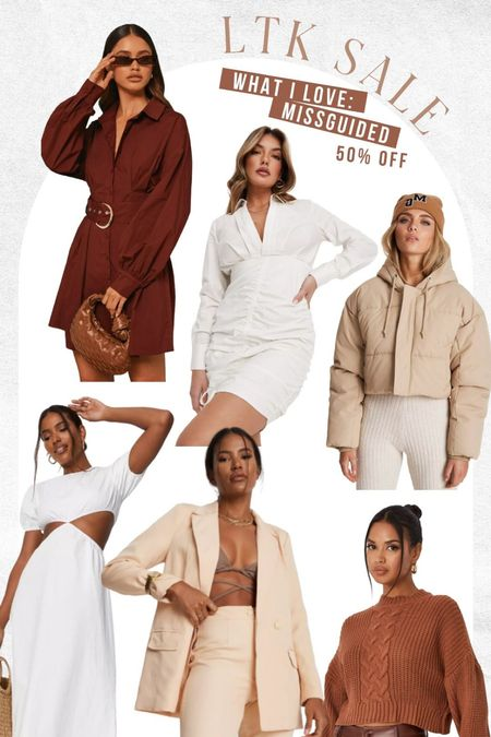 Missguided deals!!! Love their neutral fall pieces. puffer coats, dresses, blazers, and more on sale!   #LTKunder50 #LTKstyletip #LTKsalealert