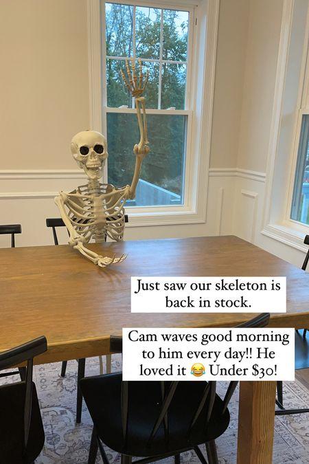 Back in stock! Life size skeleton under $30!! Great quality too!   #LTKSeasonal #LTKHoliday