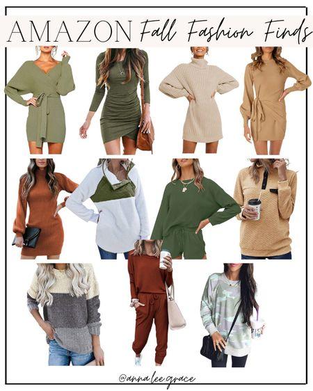 Amazon fall fashion finds, sweater dresses   #LTKSeasonal #LTKunder50 #LTKstyletip